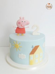 Peppa Pig Cake Ideas - My Home Cake Birthday Party Cake Tortas Peppa Pig, Bolo Da Peppa Pig, Peppa Pig Birthday Cake, Peppa Pig Cakes, 2nd Birthday, Bolo George Pig, Pig Party, Character Cakes, Girl Cakes