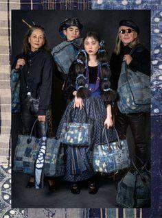 Jeans Denim, Denim Bag, Pull Bleu Marine, Boro Stitching, Modern Kimono, Denim Crafts, Japanese Textiles, Japanese Embroidery, Quilted Bag