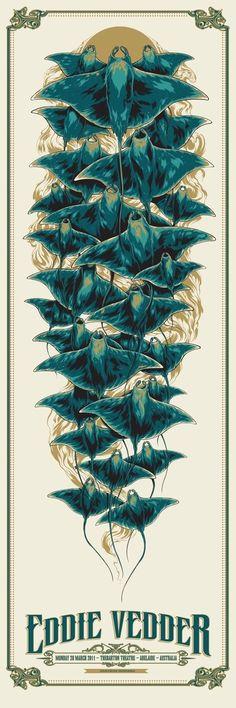 Eddie Vedder poster by Ken Taylor