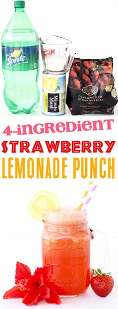 Ingredients} – The Frugal Girls Strawberry Lemonade Punch Recipe! Ingredients} – The Frugal Girls,Frugal Girls Recipes Strawberry Lemonade Punch Recipe! easy summer punch recipes can make a party. Sparkling Lemonade, Sparkling Drinks, Vodka Drinks, Alcoholic Beverages, Sparkling Punch, Frozen Drinks, Strawberry Lemonade Punch, Pineapple Lemonade, Strawberry Margarita