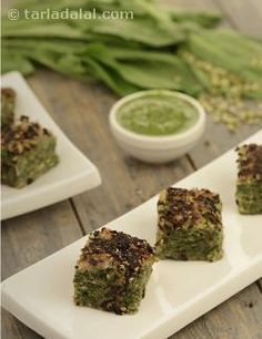 Green Moong Dal and Palak Handvo recipe | Healthy Recipes | by Tarla Dalal | Tarladalal.com | #813