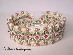 Wonderful colors!!! O-Duo Bracelet beaded by Perlineatempoperso Di Stefania. Beautiful! Thank you for sharing!
