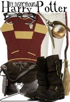 Harry Potter by DisneyBound Estilo Harry Potter, Harry Potter Disney, Harry Potter Cosplay, Harry Potter Style, Harry Potter Outfits, Disney Bound Outfits, Disney Inspired Outfits, Themed Outfits, Disney Style