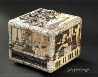 Altered Curtain Call Trinket box by giogio from our Gallery! #graphic45 #DIY