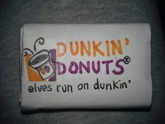 Dunkin Donut box for elf donuts