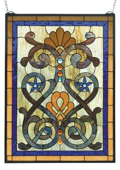 20 Inch W X 27 Inch H Mandolin Stained Glass Window