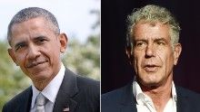 President Barack Obama took a detour on his Asia trip Monday when he dined with celebrity chef and adventurous eater Anthony Bourdain in Vietnam.