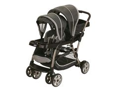 Most Versatile Double Stroller  Most doubles don't give you the versatility in seating positions that the Graco Ready2Grow LX does with twelve (yes twelve!) ways to arrange your babes. It's compatible with Graco Click Connect infant car seats, and has options for your child to stand or sit (told ya it's flexible!) $240, Toysrus.com