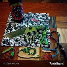 """Customer Photo By: #Repost @slipknotone """"Ready for the new #fearthewalkingdead show with nothing better than #threefloydsbrewery #permanentfuneral and some #zombie #killers of my own. Nothing better in #apocalyptic breakdown than the #breacher by @dmoknives I decked out with a little #paracord by @knottydans with #bead by @prodigy3d back that up with the #threeperkeeper by @thirdeyetactical and your hands on brother. #coffin #facesmasher by @deathbrewknucks and a sharp bead by @stay_tactical…"""