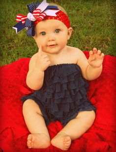 Ruffle Romper - Cute for 4th of July!