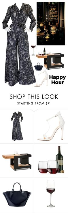 """""""Happy Hour"""" by kotnourka ❤ liked on Polyvore featuring Libbey, The Row and Crate and Barrel"""