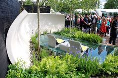 IOTA's Sponeck Chair and Table at Chelsea Flower Show 2009.