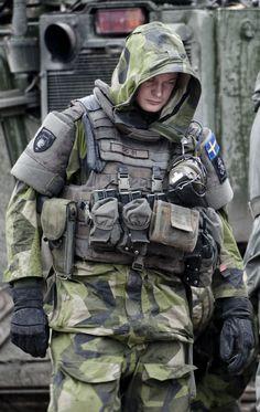 Swedish soldier.: