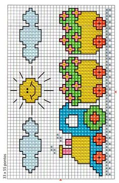 Cross stitch for kids - Train