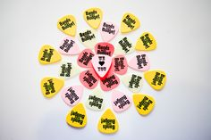 Variety of Custom Guitar Picks with a 1 color (black), 1 sided imprint