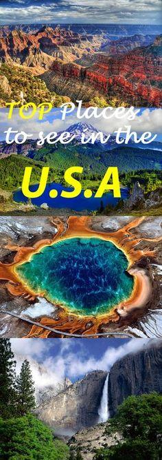 Top lugares para ver nos EUA