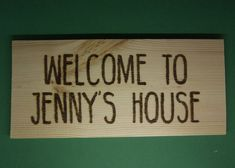 wooden sign custom welcome home house sign  personalised for you hand made
