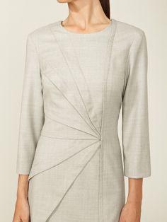 Wool Pintucked Dress by Carolina Herrera at Gilt