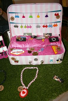 FOR CRAFT FAIR LINK PARTY: suitcase display