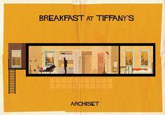 Inneneinrichtung á la Audrey Hepburn? Gucken wir uns ganz einfach von diesem Fan-Poster ab!