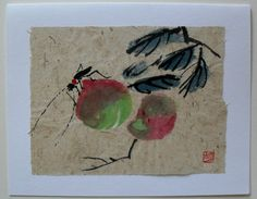 $4.99  Hand Made Asian Insect Fine ART Blank Card BY DAO YAN HU | eBay  #holiday #stationary #greetingcard