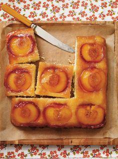 Ricardo& recipe : Peach Upside-Down Cake Peach Upside Down Cake, Ricardo Recipe, Cake Recipes, Dessert Recipes, Peach Cake, Food Network Canada, Salty Cake, Best Chocolate, Savoury Cake