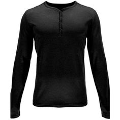 Spyder Black Steward Henley Long Sleeve Shirt ($69) ❤ liked on Polyvore featuring men's fashion, men's clothing, men's shirts, men's casual shirts, men, shirts, black, boy, mens button down shirts and mens long sleeve casual shirts