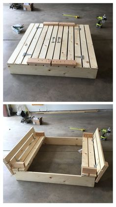 DIY Children's Sandbox
