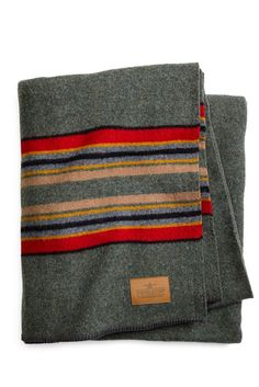 Camping Blanket - A vintage-inspired camp blanket by Pendleton that is at home in both rustic and contemporary settings. 54 x 66 wool, cotton. Made in the USA. Camping In England, Camping In Ohio, Camping With Kids, Tent Camping, Outdoor Camping, Camping Cabins, Camping Gear, Camping Hacks, Textiles