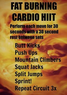 Fat Burning Cardio HIIT