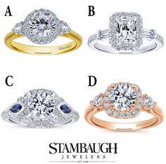It's #WeddingWednesday!  We've seen a trend of 3-stone engagement rings and they are always treasured as an anniversary gift.  Which of these #GabrielNY 3-stone styles do you like best? #GabrielCoRetailer