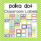 Polka Dot Classroom Labels (with and w/o pictures) - 3 editable sizes Polka Dot Classroom, Classroom Labels, Classroom Supplies, Classroom Organization, Number Labels, Supply Labels, Center Labels, Beginning Of School, Graphic Organizers