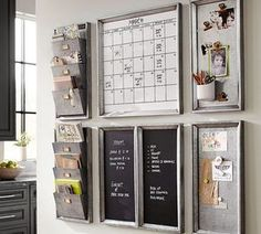 Build Your Own Family Command Center. Creating a command center that helps the family stay organized and keeps a system of incoming papers. Find the best family command center kitchen options. Family Organization Wall, Family Organizer, Home Office Organization, Organization Hacks, Mail Organizer Wall, Organization Station, Kitchen Calendar Organization, White Board Organization, Home Office Storage