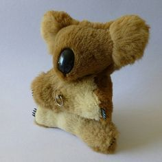 Vintage windup musical koala toy made with Kangaroo fur, 1960's ...