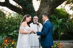Wedding ceremony. Romantic Villa Woodbine Wedding