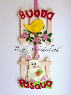 Benvenuti nel mio Mondo di Passioni e Creatività! Baby Crafts, Easter Crafts, Christmas Crafts, Crafts For Kids, Lolly Stick Craft, Diy Popsicle Stick Crafts, Quick Crafts, Diy And Crafts, Christmas Tree Coloring Page
