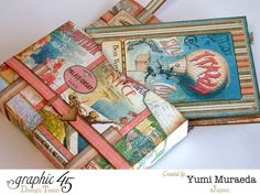 Come see more of this Come Away with Me travel bag mini album by the amazing Yumi #graphic45