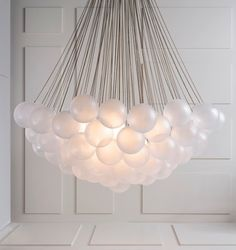 Cloud chandelier by Apparatus.