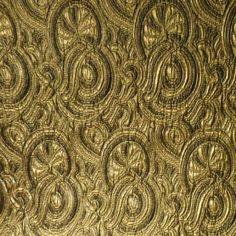 Brocade - Gold Swirl Metallic - Haberman Fabrics