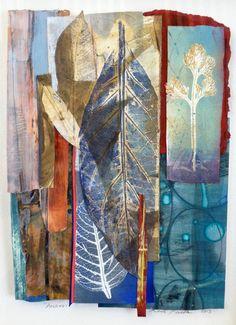 alongtimealone:Hallway, Monotype, Acrylic (by humanart) (via elemenop) Atelier D Art, Gelli Arts, Collage Art Mixed Media, Nature Prints, Art Journal Inspiration, Art Plastique, Art Techniques, Oeuvre D'art, Textile Art