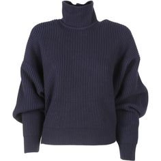 Balenciaga Pull Over Sweater ($695) ❤ liked on Polyvore featuring tops, sweaters, shirts, jumpers, ink, long sleeve jumper, polo neck sweater, shirt sweater, long sleeve tops and turtle neck sweater