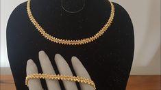 Altın Zincir Kolye & Bileklik  Yapımı / Gold Necklace & Bracelet - YouTube Bead Loom Bracelets, Beaded Bracelet Patterns, Ankle Bracelets, Beaded Earrings, Geek Jewelry, Bead Jewellery, Golden Jewelry, Necklace Tutorial, Handmade Bracelets