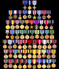 U S Military Medals Chart More