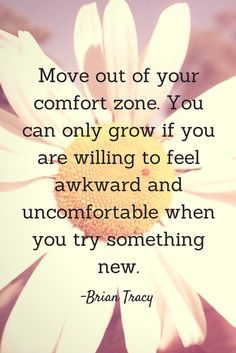 Let's get uncomfortable today!
