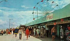 old boardwalk area at Jax Beach (1970s) -- I remember that ferris wheel