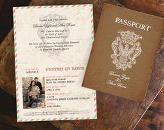 Vintage Passport Boarding Pass Destination by MeganElizabethShop
