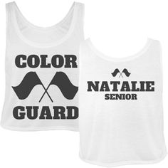 Color Guard Girls Crop Top Tank Top. Cute design for marching band camp, winter guard traveling and back to school seniors.