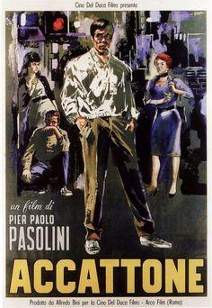 """Accattone"" (1961). Country: Italy. Director: Pier Paolo Pasolini. Cast: Franco…"
