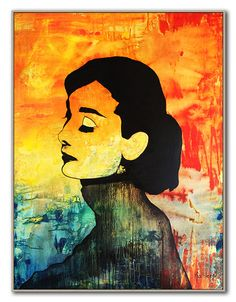 Audrey Hepburn Canvas Decor Wall Art Modern Fine Art Large