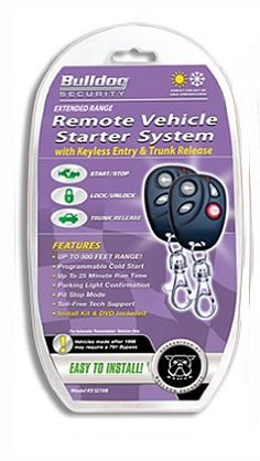 bulldog security rs1270b remote starter with keyless entry and built-in  bypass module by bulldog